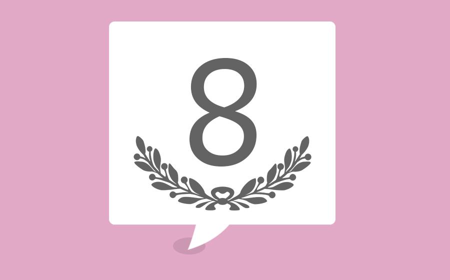 significado do número 8