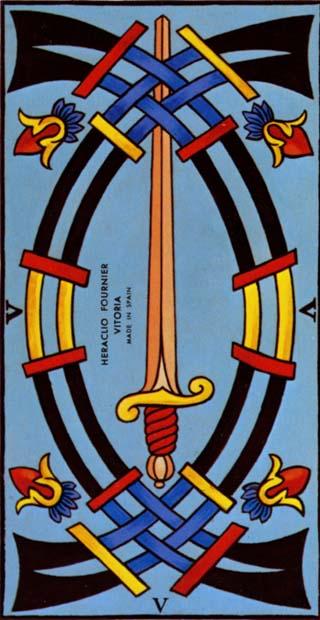 cinco de espadas tarot