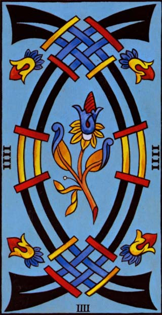 quatro de espadas tarot