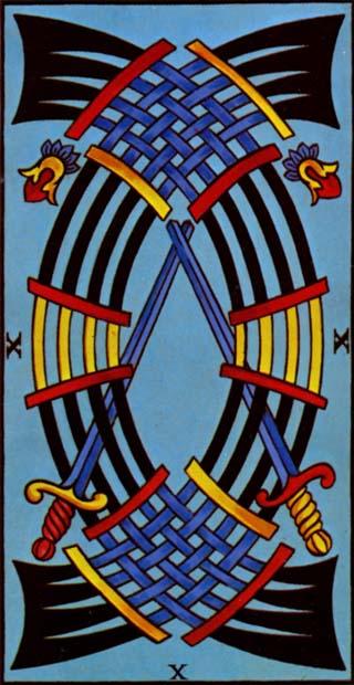 dez de espadas tarot