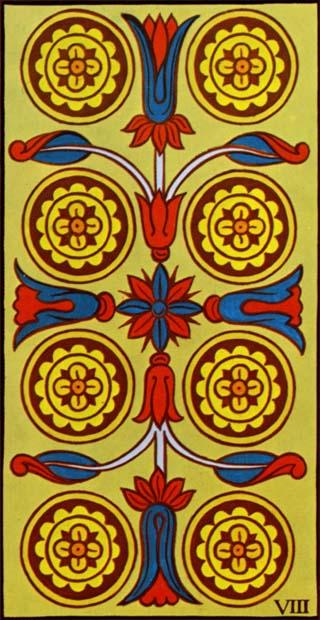oito de ouros tarot