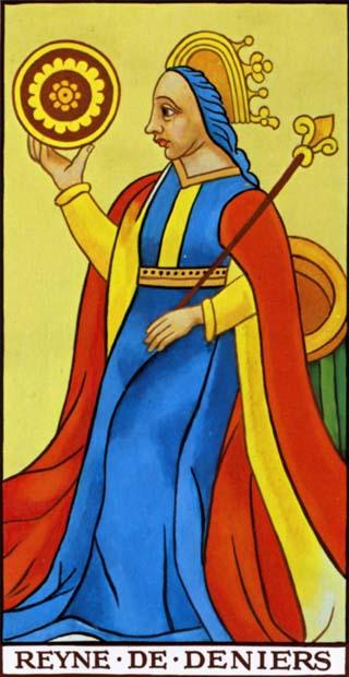rainha de ouros tarot