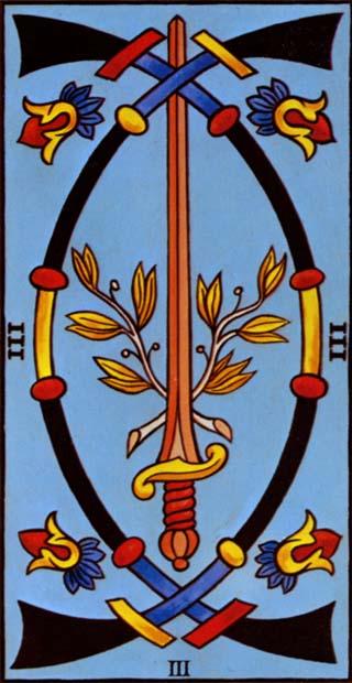 três de espadas tarot