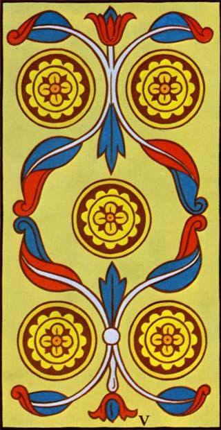 cinco de ouros tarot