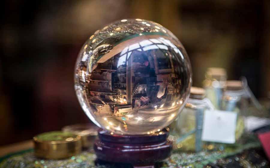 magia da bola de cristal