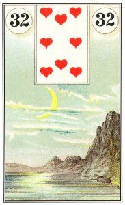 carta a lua baralho cigano