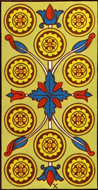 dez de ouros tarot