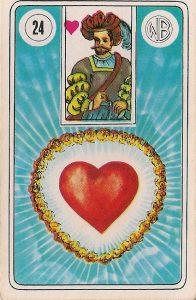 carta baralho cigano o coração