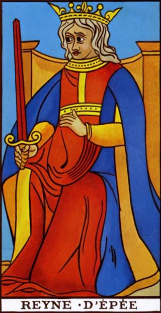 rainha de espadas tarot