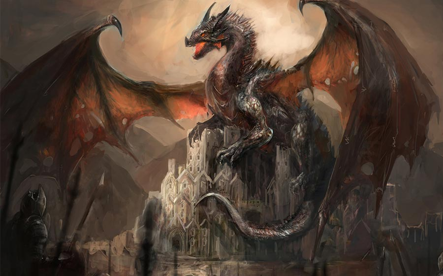sonho com dragão