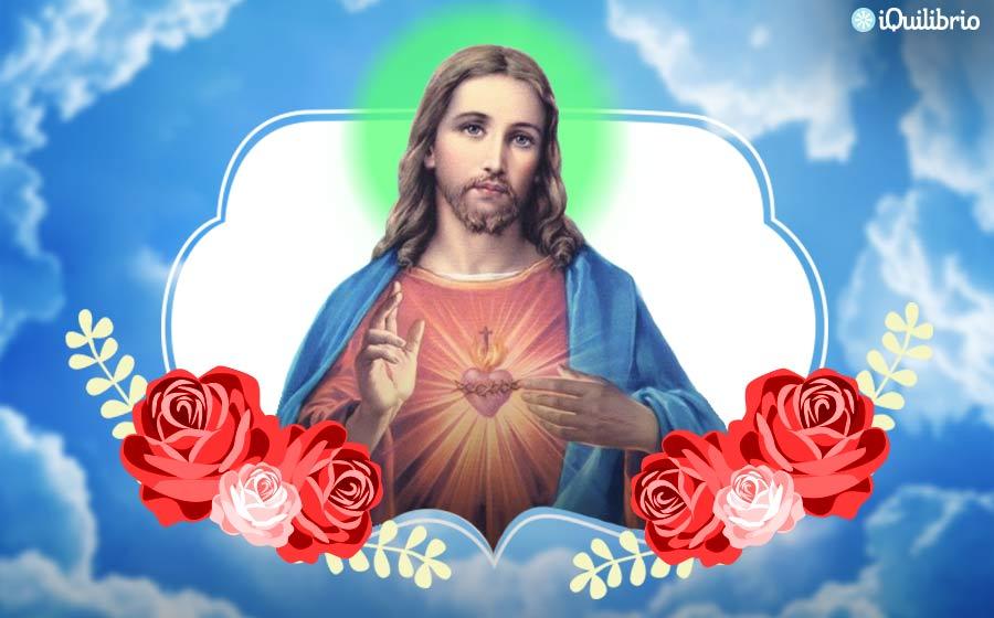 Imagem de jesus flores vermelhas