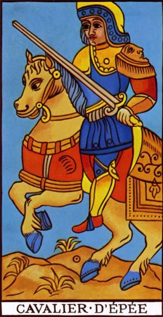 cavaleiro de espadas tarot