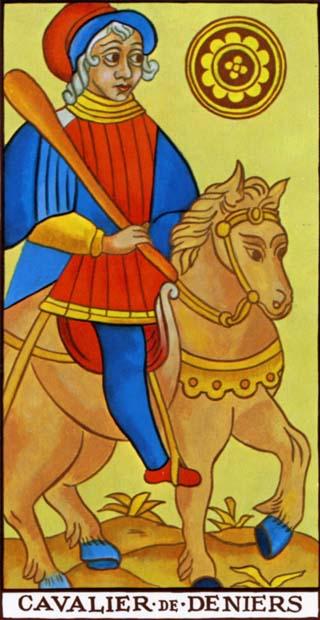 cavaleiro de ouros tarot