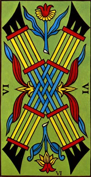 seis de paus tarot