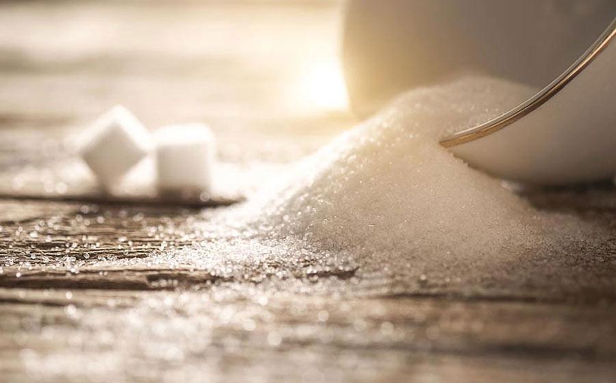 banho com açúcar
