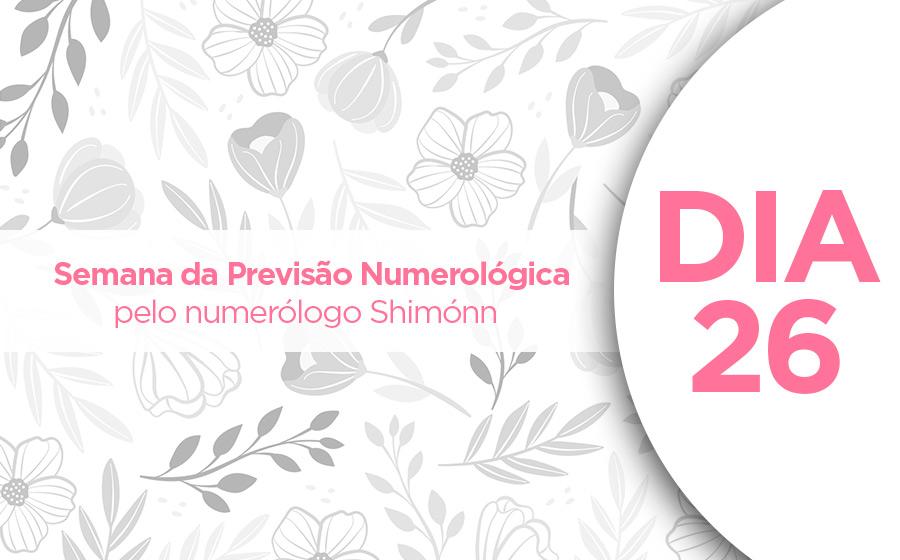 previsão numerológica dia 26