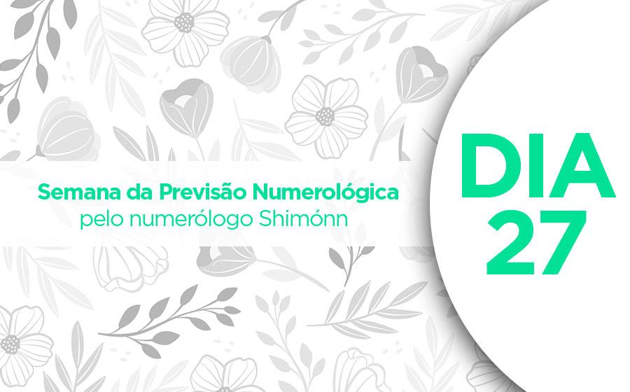 previsão numerológica dia 27