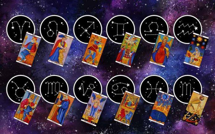 carta de tarot de cada signo