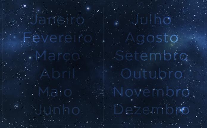 o nome dos meses